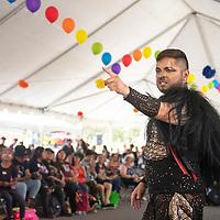 Osiris LaMasters Raven from Flagstaff performs at the third annual DinéPride Saturday, June 29 at Veteran's Memorial Park in Window Rock.