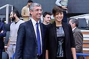 DESCRIZIONE : Trento Beko All Star Game 2016<br /> GIOCATORE : Fernando Marino Alice Sabatini Miss Italia<br /> CATEGORIA : Ritratto Before Pregame Presidente<br /> SQUADRA : LegaBasket<br /> EVENTO : Beko All Star Game 2016<br /> GARA : Beko All Star Game 2016<br /> DATA : 10/01/2016<br /> SPORT : Pallacanestro <br /> AUTORE : Agenzia Ciamillo-Castoria/L.Canu