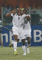 Photo: Steve Bond/Richard Lane Photography.<br />Ghana v Namibia. Africa Cup of Nations. 24/01/2008. Junior Agogo turns away after scoring