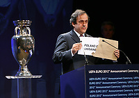 Photo: Rich Eaton.<br />UEFA European Championships 2012 Press Conference. 18/04/2007.<br />Poland are announced as hosts for the Euro 2012 Championships by UEFA President Michel Platini.