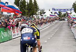 Finish Line during Stage 3 of 24th Tour of Slovenia 2017 / Tour de Slovenie from Celje to Rogla (167,7 km) cycling race on June 16, 2017 in Slovenia. Photo by Vid Ponikvar / Sportida