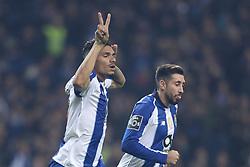 November 10, 2018 - Porto, Porto, Portugal - Porto's Brazilian forward Soares celebrates after scoring a goal with during the Premier League 2018/19 match between FC Porto and SC Braga, at Dragao Stadium in Porto on November 9, 2018. (Credit Image: © Dpi/NurPhoto via ZUMA Press)