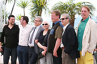 Tomm Moore, Paul Brizzi, Gaëtan Brizzi, Joan C. Gratz, Roger Allers, Joan Sfar, Bill Plympton, at the photo call for the film A Tribute to Animated Films at the 67th Cannes Film Festival, Saturday 17th May 2014, Cannes, France.