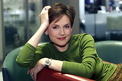 Feature Pics of Katie Derham, ITN News Presenter 2000. Photo by Andrew Parsons/i-Images.