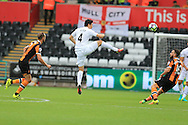 Ki Sung-Yueng of Swansea city© in action. Premier league match, Swansea city v Hull city at the Liberty Stadium in Swansea, South Wales on Saturday 20th August 2016.<br /> pic by Andrew Orchard, Andrew Orchard sports photography.
