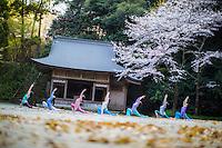 Heeki Park, Ryansun Kuramae, Kanoko Tagawa, Namiki Kikkawa, Aya Iijima, Keiko Iwaasa at Sakurai Jinja, Fukuoka - Japan