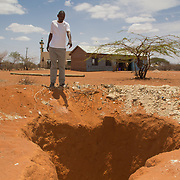 Well being dug at a school in Wajir in Kenya's drought-prone North Eastern Province.