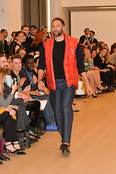 BEN GOLDSMITH modelling at Fashions for The Future presented by Oceana's Junior Council held at Phillips Auction House, 30 Berkeley Square, London on 19th March 2015.