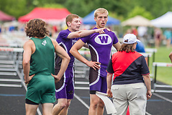 Maine State Track & Field Meet, Class B: boys high hurdles, Jordhan Levine, Troy Gurski, Waterville