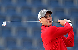 Germany's Martin Kaymer tees off the 3rd during day one of The Open Championship 2018 at Carnoustie Golf Links, Angus. PRESS ASSOCIATION Photo. Picture date: Thursday July 19, 2018. See PA story GOLF Open. Photo credit should read: David Davies/PA Wire. RESTRICTIONS: Editorial use only. No commercial use. Still image use only. The Open Championship logo and clear link to The Open website (TheOpen.com) to be included on website publishing.