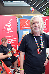 Norwich Pride, 28 July 2018 UK - Unite trade union stall