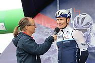 Andre Greipel is interviewed ahead of Stage 8 of the AJ Bell Tour of Britain 2021 between Stonehaven to Aberdeen, , Scotland on 12 September 2021.