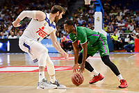 Real Madrid's Andres Nocioni and Unicaja Malaga's Oliver Lafayette during semi finals of playoff Liga Endesa match between Real Madrid and Unicaja Malaga at Wizink Center in Madrid, May 31, 2017. Spain.<br /> (ALTERPHOTOS/BorjaB.Hojas)