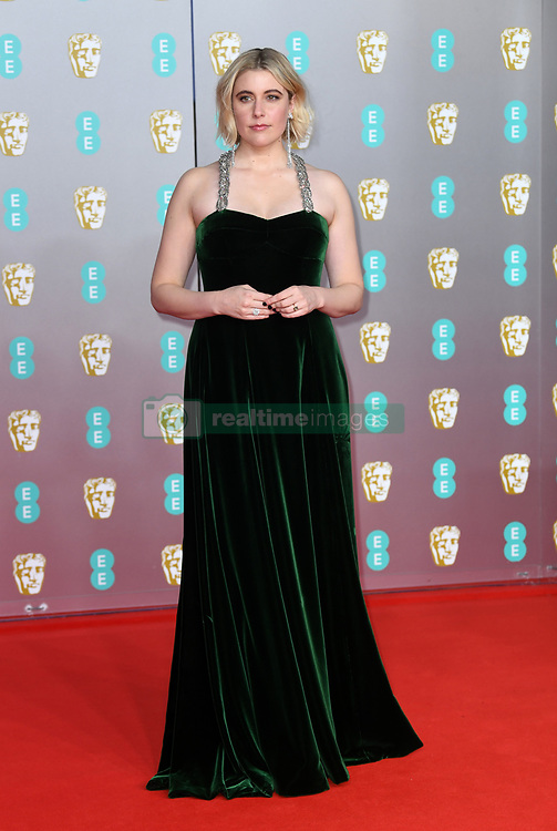 Greta Gerwig attending the 73rd British Academy Film Awards held at the Royal Albert Hall, London. Photo credit should read: Doug Peters/EMPICS Entertainment