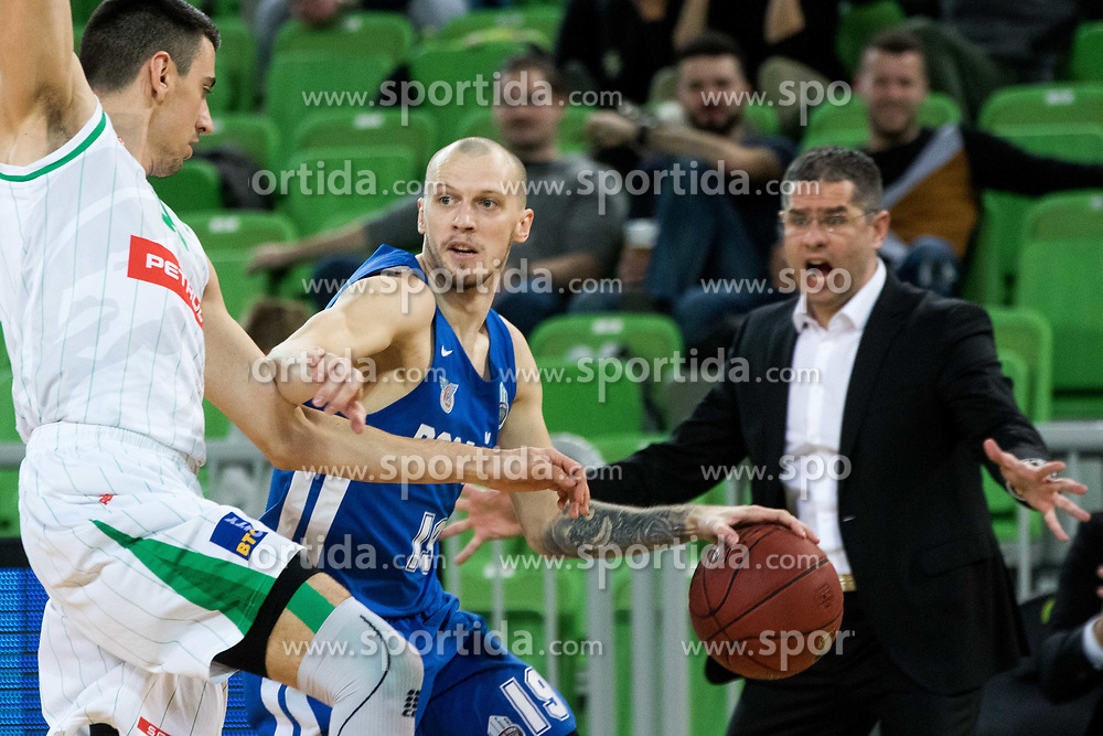 Miha Vasl of KK Rogaska during 2nd leg basketball match between KK Petrol Olimpija and KK Rogaska in quarter final of  Pokal SPAR 2018/19, on January 14, 2019 in Arena Stozice, Ljubljana, Slovenia. Photo by Matic Ritonja / Sportida