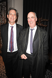 Left to right, MARK JONES and CHARLES SAUMAREZ-SMITH at the Liberatum Dinner hosted by Ella Krasner and Pablo Ganguli in honour of Sir V S Naipaul at The Landau at The Langham, Portland Place, London on 23rd November 2010.