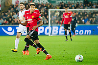 Football - 2017 / 2017 EFL (League) Cup - Fourth Round: Swansea City vs. Manchester United<br /> <br /> Jesse Lingard of Manchester United passes the ball, at The Liberty Stadium.<br /> <br /> COLORSPORT/WINSTON BYNORTH