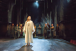 © Licensed to London News Pictures. 16/10/2013. EMBARGO until 19.00 hrs 17/10/2013. The Royal Shakespeare Company presents Richard II, starring David Tennant as Richard.  Richard II is the first production in a new cycle of Shakespeare's History plays, directed by RSC Artistic Director Gregory Doran, to be performed over the coming seasons. Picture features David Tennant as Richard. Photo credit: Tony Nandi/LNP.