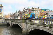 O'Connell Bridge, River Liffey, city of Dublin, Ireland, Irish Republic