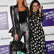 Olivia Attwood and Amber Davies attend Spectacle Wearer of the Year 2018 at 8 Northumberland avenue, on 23 October 2018, London, UK.