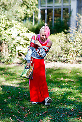 Street style, Yuri Nakagawa arriving at Manish Arora spring summer 2019 ready-to-wear show, held at Pavillon Ledoyen, in Paris, France, on September 27th, 2018. Photo by Marie-Paola Bertrand-Hillion/ABACAPRESS.COM