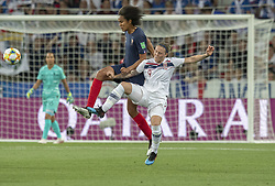 Wendie RENARD ( FRA ), Isabell HERLOVSEN ( NOR )in action during the match of 2019 FIFA Women's World Cup France group A match between FRANCE and NORWAY, at Allianz Riviera, Nice Arena on June 12, 2019 in Nice, France. Photo by Loic BARATOUX/ABACAPRESS.COM