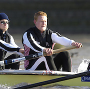 PUTNEY, LONDON, ENGLAND, 18.03.2006, Pre 2006 Boat Race Fixture, Cambridge UBC vs Leander BC.  over part of the Championship Course  from Putney to Mortlake.   © Peter Spurrier/Intersport-images.com. Marcus Bateman, .[Mandatory Credit Peter Spurrier/ Intersport Images] Varsity Boat Race, Rowing Course: River Thames, Championship course, Putney to Mortlake 4.25 Miles