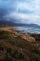 Evening light on the shore, Falassarna, Crete