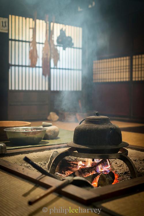 Interior of folk Museum in Shirakawa-go, Japan
