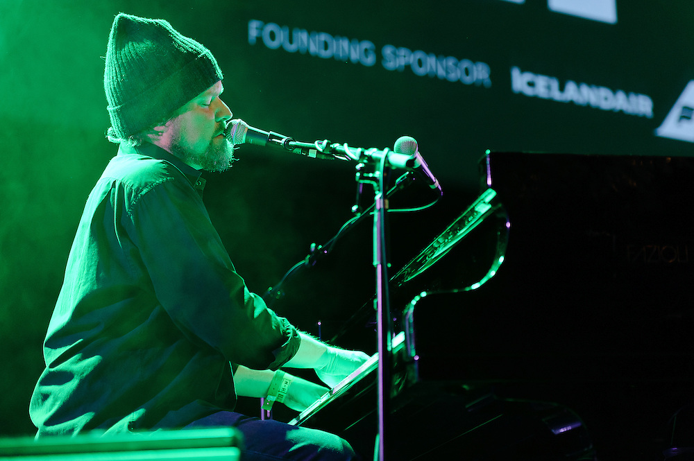 Photos of the musician John Grant performing at Harpa for Iceland Airwaves music festival. October 15, 2011. Copyright © 2011 Matthew Eisman. All Rights Reserved.