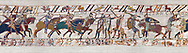 11th Century Medieval Bayeux Tapestry - Scene 56 -  Harold army is cut down .<br /> <br /> If you prefer you can also buy from our ALAMY PHOTO LIBRARY  Collection visit : https://www.alamy.com/portfolio/paul-williams-funkystock/bayeux-tapestry-medieval-art.html  if you know the scene number you want enter BXY followed bt the scene no into the SEARCH WITHIN GALLERY box  i.e BYX 22 for scene 22)<br /> <br />  Visit our MEDIEVAL ART PHOTO COLLECTIONS for more   photos  to download or buy as prints https://funkystock.photoshelter.com/gallery-collection/Medieval-Middle-Ages-Art-Artefacts-Antiquities-Pictures-Images-of/C0000YpKXiAHnG2k