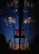 Taylors Neon at dusk, Ellicott City, Maryland.