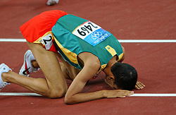 Hicham El Guerrouj MAR in action during Olympics Games Athletics day 12 on August 24, 2004 in Olympic Stadion Spyridon Louis, Athens.