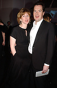 George and Frances Osborne. The Black and White Winter Ball. Old Billingsgate. London. 8 February 2006. -DO NOT ARCHIVE-© Copyright Photograph by Dafydd Jones 66 Stockwell Park Rd. London SW9 0DA Tel 020 7733 0108 www.dafjones.com