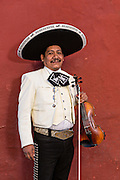 A mariachi band member dressed in traditional charro costume November 5, 2013 in Oaxaca, Mexico.