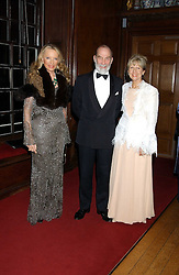 TRH PRINCE & PRINCESS MICHAEL OF KENT and LENTE ROODE at a fundraising dinner in aid of the Hoedspruit Endangered Species Foundation in the presence of TRH Rrince & Princess Michael of Kent at Kensington Palace, London on 2nd March 2006.<br /><br />NON EXCLUSIVE - WORLD RIGHTS