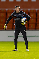 Lincoln City Goalkeeping coach Steve Croudson before the EFL Sky Bet League 1 match between Lincoln City and Shrewsbury Town at Sincil Bank, Lincoln, United Kingdom on 15 December 2020.