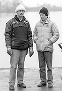 Staines, GREAT BRITAIN,   <br /> Left, Steve ROYAL and Alan INNES. British Rowing Men's Heavy Weight Assessment. Thorpe Park. Sunday 27.02.1987,<br /> <br /> [Mandatory Credit, Peter Spurrier / Intersport-images] 1987 GBR Men's H/Weight 3rd Assessment Thorpe Park, Surrey. UK