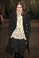 Maria Bradley walks down runway for F2012 Altuzarra's collection in Mercedes Benz fashion week in New York on Feb 10, 2012 NYC's