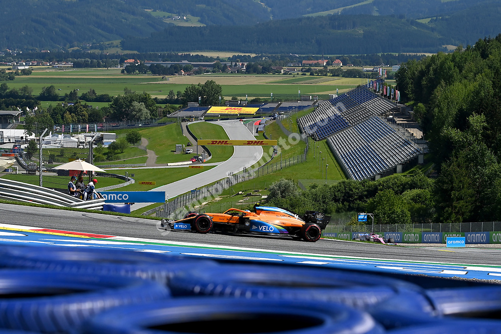 Lando Norris (McLaren-Renault) during the 2020 Austrian Grand Prix at the Red Bull Ring in Spielberg.  © Copyright: FIA Pool Image for Editorial Use Only