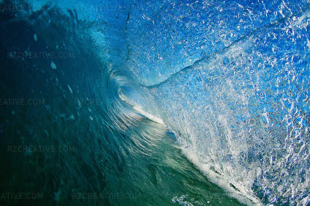 Water shot of a breaking wave at Salt Creek in Orange County, California.
