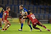 Rugby League - 2020 Super League - Round 13 - Warrington Wolves vs Catalan Dragon<br /> <br /> Warrington Wolves's Blake Austin is tackled,   at the Halliwell Jones Stadium, Warrington<br /> <br /> <br /> COLORSPORT/TERRY DONNELLY