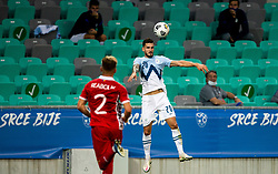 Petar Stojanovic of Slovenia during the UEFA Nations League C Group 3 match between Slovenia and Moldova at Stadion Stozice, on September 6th, 2020. Photo by Vid Ponikvar / Sportida