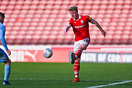 Ben Williams of Barnsley (28) in action during the EFL Sky Bet League 1 match between Barnsley and Coventry City at Oakwell, Barnsley, England on 30 March 2019.
