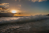 Splashing wave off Kailua Beach, Oahu, Hawaii