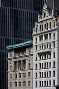 Century-old architecture and modernity on Broadway in Manhattan, New York City.