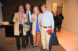 Left to right, MR & MRS EDWARD BELLHOUSE, CAMILLA BELLHOUSE and WILLIAM SMYTH at reception to see the installation of Horse at Water by Nic Fiddian-Green at Marble Arch, London on 14th September 2010.