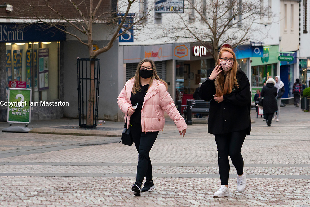 Airdrie, North Lanarkshire,Scotland, UK. 28 October 2020. Views of town centre in Airdrie which is a town in North Lanarkshire that might be subjected to Level 4 lockdown criteria under the Scottish Government's new coronavirus system to control the spread of the virus. Iain Masterton/Alamy Live News