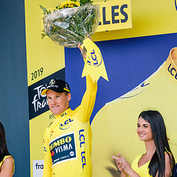 06-07-2019: Wielrennen: Tour de France: Brussel<br />Ploegentijdrit Mike Teunissen blijft leider in de strijd om de gele en de groene trui