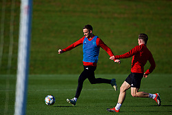 CARDIFF, WALES - Sunday, November 18, 2018: Wales' Andy King during a training session at the Vale Resort ahead of the International Friendly match between Albania and Wales. (Pic by David Rawcliffe/Propaganda)